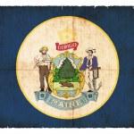 Grunge flag of Maine (USA) — Stock Photo