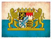 Grunge flag of Bavaria (Germany) — Stock Photo