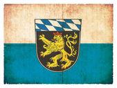 Grunge flag of Upper Bavaria (Bavaria, Germany) — Stock Photo