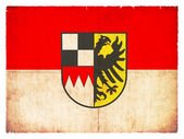 Grunge flag of Middle Franconia (Bavaria, Germany) — Stock Photo