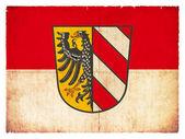 Grunge flag of Nuremberg (Bavaria, Germany) — 图库照片