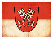 Grunge flag of Regensburg (Bavaria, Germany) — Stock Photo