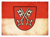 Grunge flag of Regensburg (Bavaria, Germany) — Stock Photo