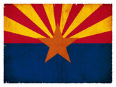 Grunge flag of Arizona (USA) — Stock Photo