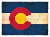 Grunge vlajka Colorado (Usa) — Stock fotografie