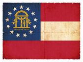 Grunge flag of Georgia (USA) — Stock Photo