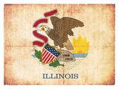 Grunge flag of Illinois (USA) — Stock Photo