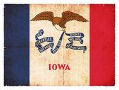 Grunge flag of Iowa (USA) — Stock Photo
