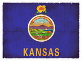 Grunge flag of Kansas (USA) — Stock Photo