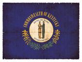Grunge flag of Kentucky (USA) — Stok fotoğraf