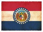 Grunge flag of Missouri (USA) — Stock Photo