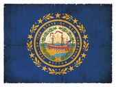 Grunge flag of New Hampshire (USA) — 图库照片