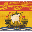 Grunge flag of New Brunswick (Canadian province) — Stock Photo