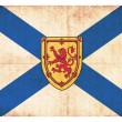 Grunge flag of Nova Scotia (Canadian province) - Stock Photo