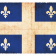 Grunge flag of Quebec (Canadian province) — Stock Photo