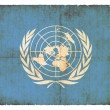 Grunge flag of United Nations — Stock Photo