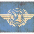 Grunge-Flagge der International Civil Aviation Organization — Stok Fotoğraf #18582685