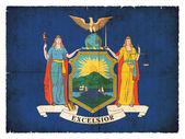 Bandeira do grunge de Nova York (Estados Unidos da América) — Fotografia Stock
