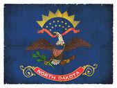 Grunge flag of North Dakota (USA) — Stock Photo