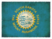 Grunge flag of South Dakota (USA) — Stock Photo