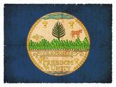 バーモント州 (アメリカのグランジ フラグ) — ストック写真