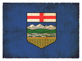 Grunge flag of Alberta (Canadian province) — Stock Photo
