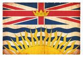 Grunge flag of British Columbia (Canadian province) — Stock Photo