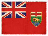 Grunge flag of Manitoba (Canadian province) — Stock Photo