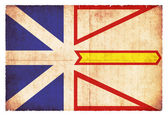 Grunge flag of Labrador (Canadian province) — Stock Photo