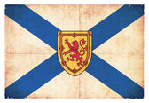 Grunge flag of Nova Scotia (Canadian province) — Stock Photo