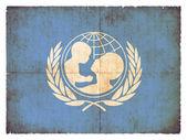 Granica flagge unicef — Zdjęcie stockowe