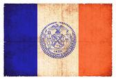 Grunge flagga i New York (Usa) — Stockfoto