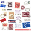 Postage stamps and labels from Australia — Stock Photo