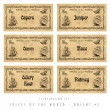 Illustration set spice labels, Orient 2 — Stock Photo #19639987