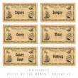 Stock Photo: Illustration set spice labels, Orient 2