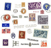 Postage stamps and labels from United Kingdom — Stock Photo