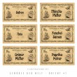Illustration set spice labels, Orient 1 — Stock Photo #19643489