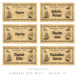 Illustration set spice labels, Orient 2 — Stock Photo #19643719