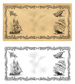 Illustration template for spice labels or tea — Stock Photo