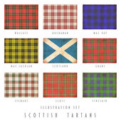 Scottish tartans in grunge design — Stock Photo