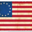 Historic Grunge flag of USA — 图库照片 #22017273