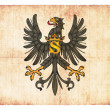 Grunge flag of Prussia (historic) - Stock Photo