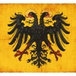 Historic grunge flag of the Holy Roman Empire (of Germany) — Stock Photo