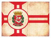 Grunge flag of Sao Paulo (Brazil) — Stock Photo