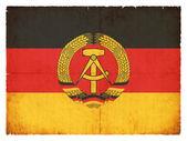 Grunge flag of the German Democratic Republic (DDR) — Stock Photo