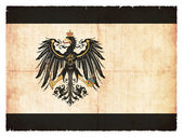 Grunge flag of Prussia (historic, 1892-1918) — Стоковое фото