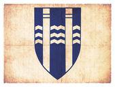 Grunge flag of Reykjavik (Iceland) — Stockfoto