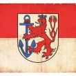 Grunge flag of Duesseldorf (North Rhine-Westphalia, Germany) — Stock Photo