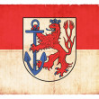 Grunge flag of Duesseldorf (North Rhine-Westphalia, Germany) — Stock Photo #22032051