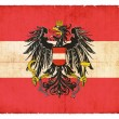 Grunge flag of Austria with Coat of Arms — Stock Photo #22032413